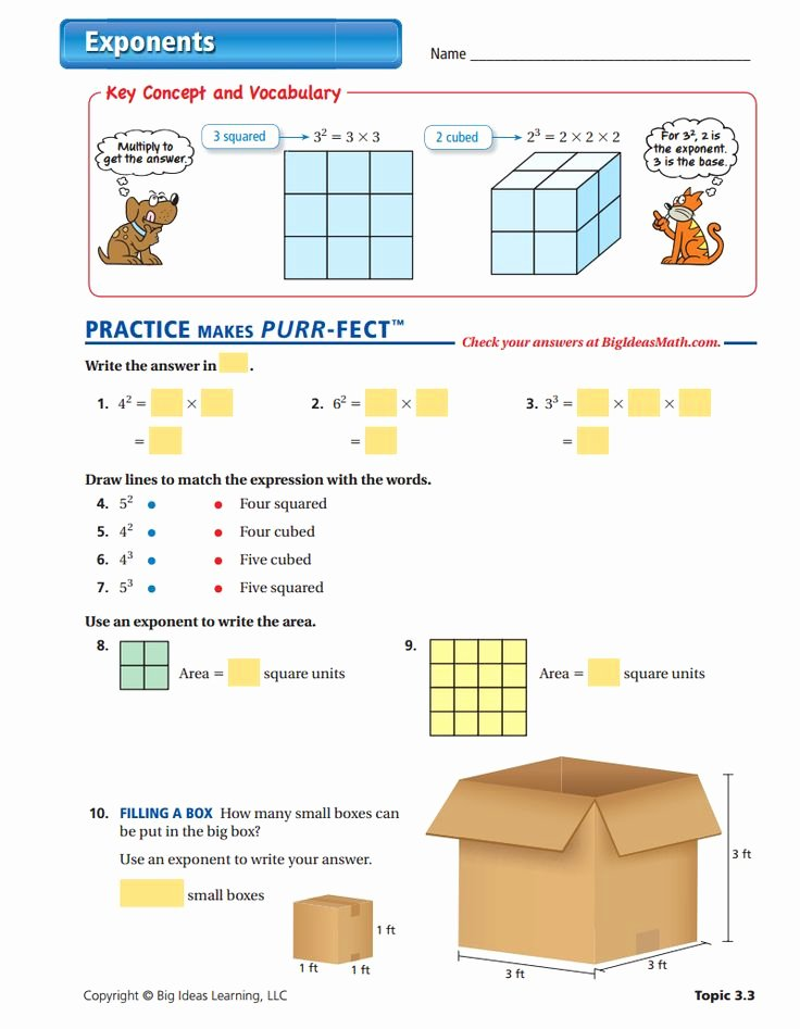 Properties Of Numbers Worksheet Inspirational Exponents Worksheet Teaching Exponents