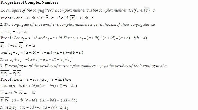 Properties Of Numbers Worksheet Unique some Properties Of Plex Numbers High School