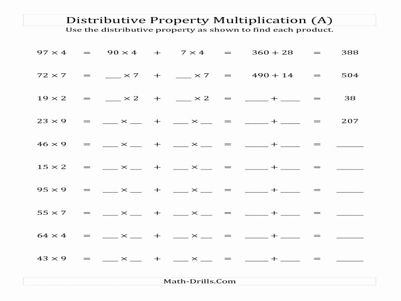 Properties Of Operations Worksheet Beautiful Properties Operations Worksheet Free Printable Worksheets