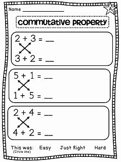 Properties Of Operations Worksheet Elegant First Grade Math Unit 7