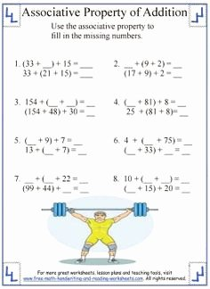 Properties Of Operations Worksheet Fresh 1000 Ideas About Properties Addition On Pinterest