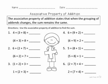 Properties Of Operations Worksheet Luxury 30 Best Images About Properties Of Operations On Pinterest