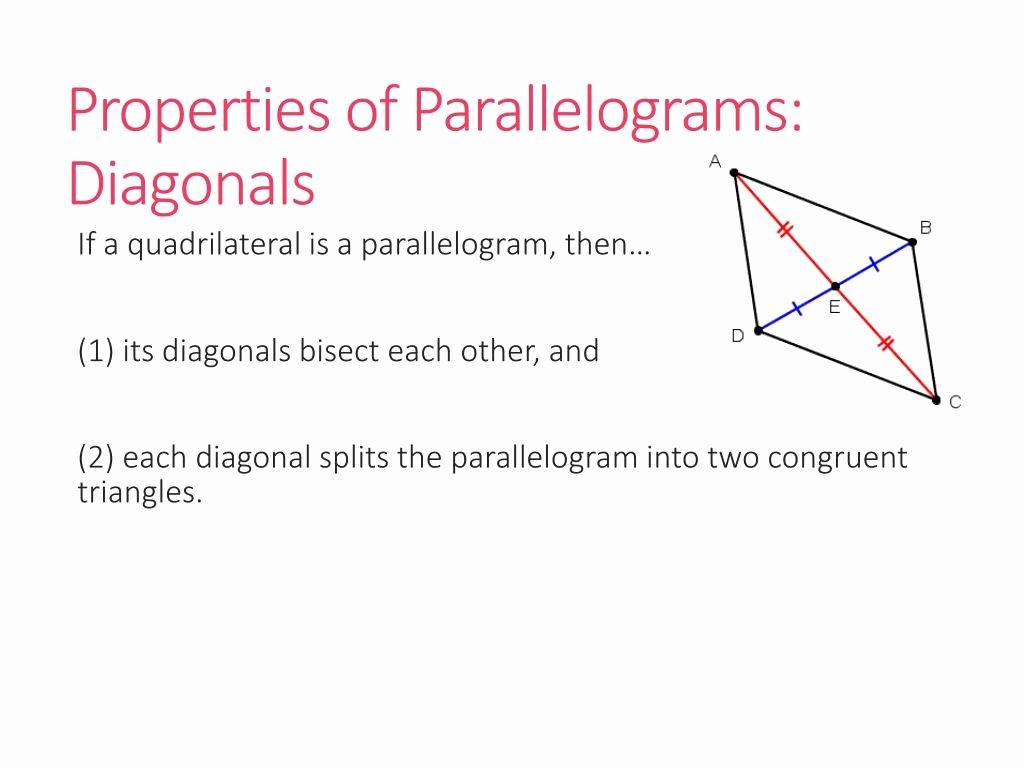 Properties Of Parallelograms Worksheet Elegant Ppt Geometry Unit 7 Polygons Powerpoint Presentation