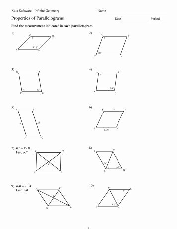 Properties Of Parallelograms Worksheet Lovely 10 Surface area Of Pyramids and Cones Kuta software