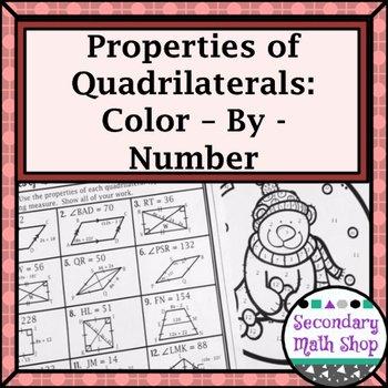 Properties Of Parallelograms Worksheet Lovely Quadrilaterals Properties Of Quadrilaterals Color by
