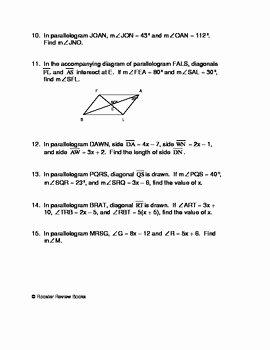 Properties Of Parallelograms Worksheet New Properties Of Parallelograms Worksheet by Dawn Facciolo