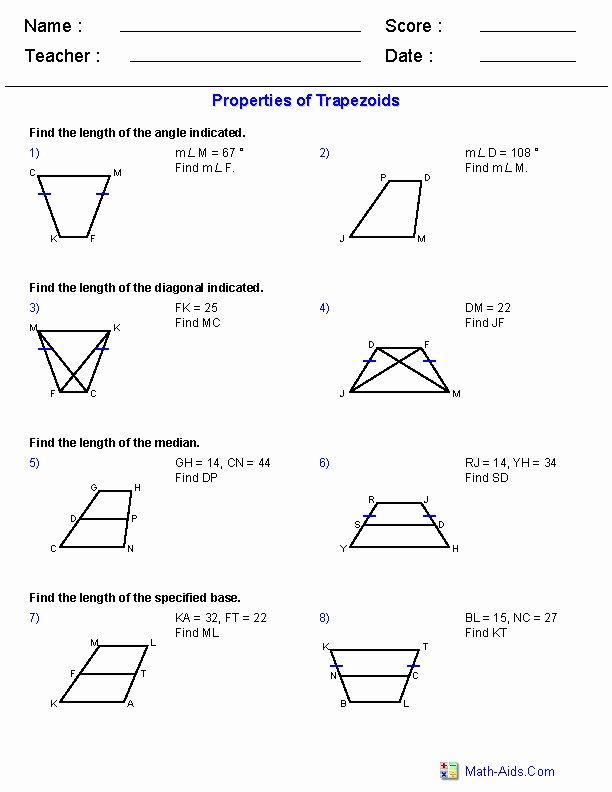 Properties Of Parallelograms Worksheet New Properties Parallelograms Worksheet