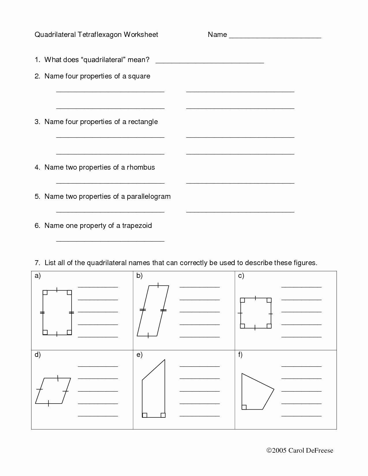Properties Of Quadrilateral Worksheet Awesome 11 Best Of area Quadrilateral Worksheet Types