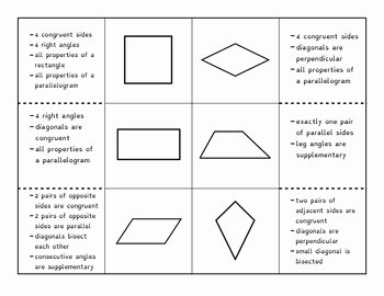 Properties Of Quadrilateral Worksheet Awesome Properties Of Quadrilaterals Foldable by Ms Miles Math