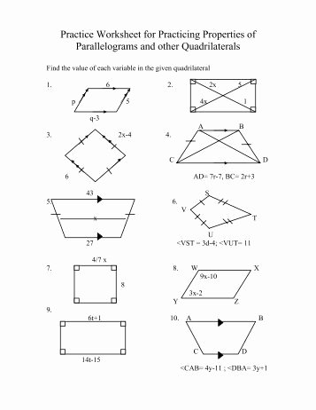 Properties Of Quadrilateral Worksheet Best Of Unit Overview I Angles