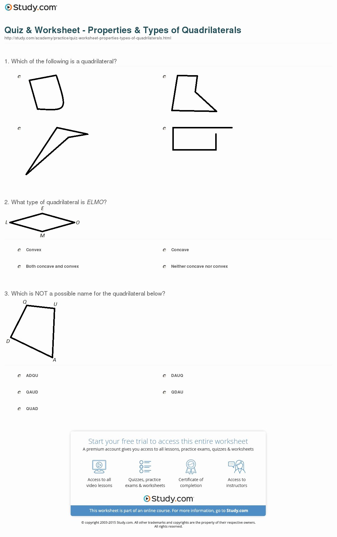 Properties Of Quadrilateral Worksheet Best Of Worksheet Types Quadrilaterals Worksheet Grass Fedjp