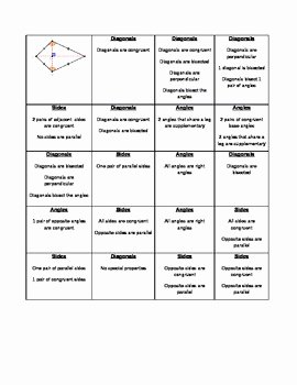 Properties Of Quadrilateral Worksheet Lovely Quadrilateral Property sort by Renee byron