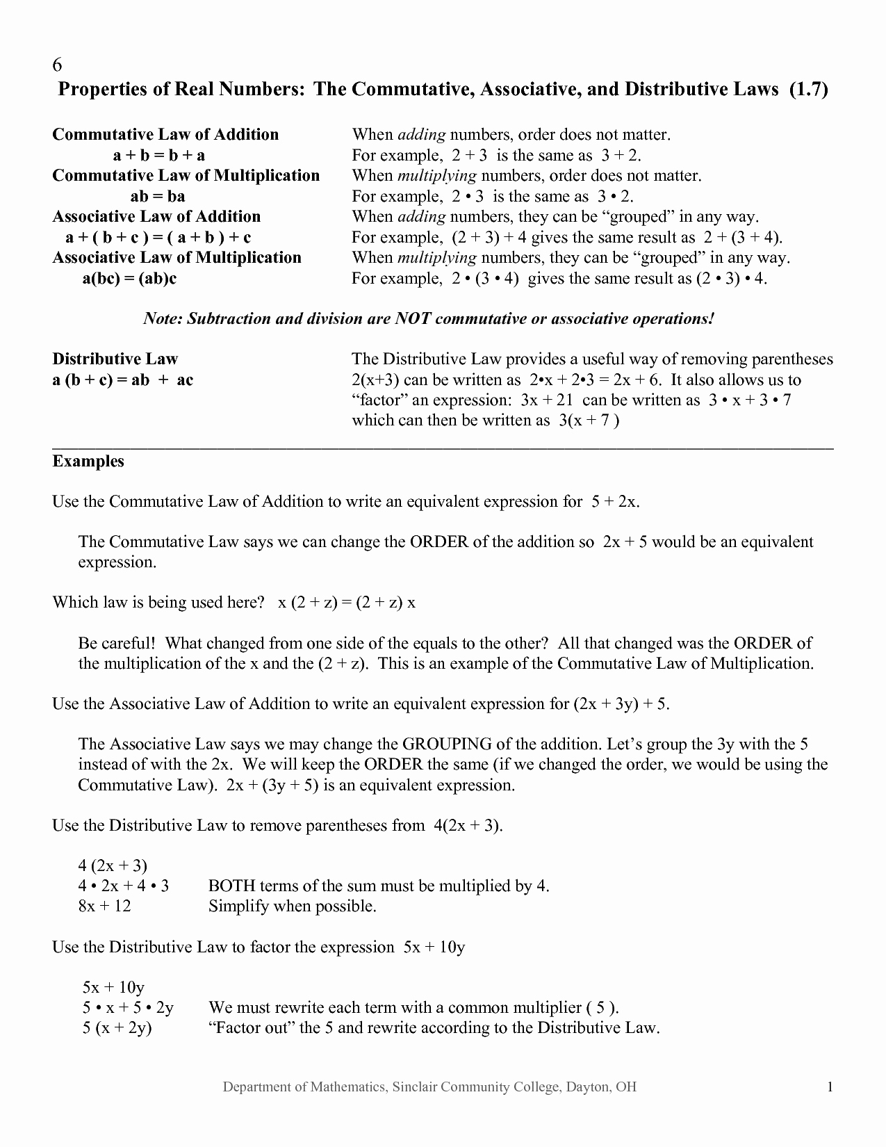 Properties Of Real Numbers Worksheet Beautiful 12 Best Of associative Properties Worksheets