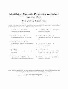 Properties Of Real Numbers Worksheet Lovely Aim 6 What are the Properties Of Real Numbers Homework