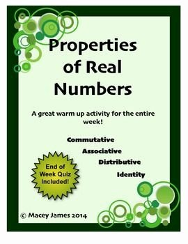Properties Of Real Numbers Worksheet New 94 Best Images About Macey James Tpt Store On Pinterest