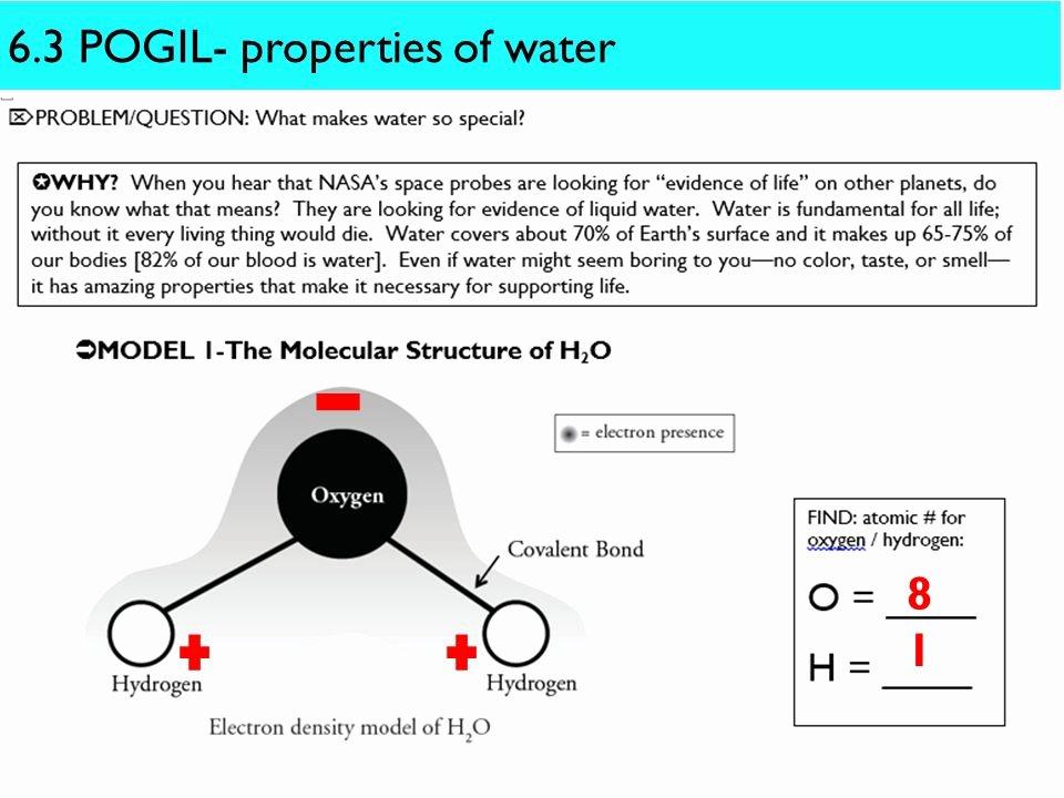 Properties Of Water Worksheet Answers Luxury Properties Water Pogil