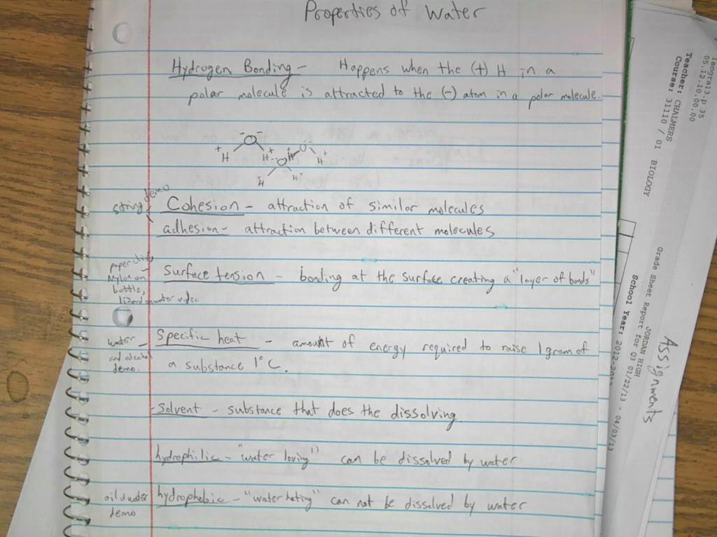 Properties Of Water Worksheet Answers New Notebooks and Worksheets From Class Second Semester