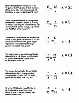 Proportion Word Problems Worksheet Awesome Proportions Word Problems Card sort 2 Setting Up and