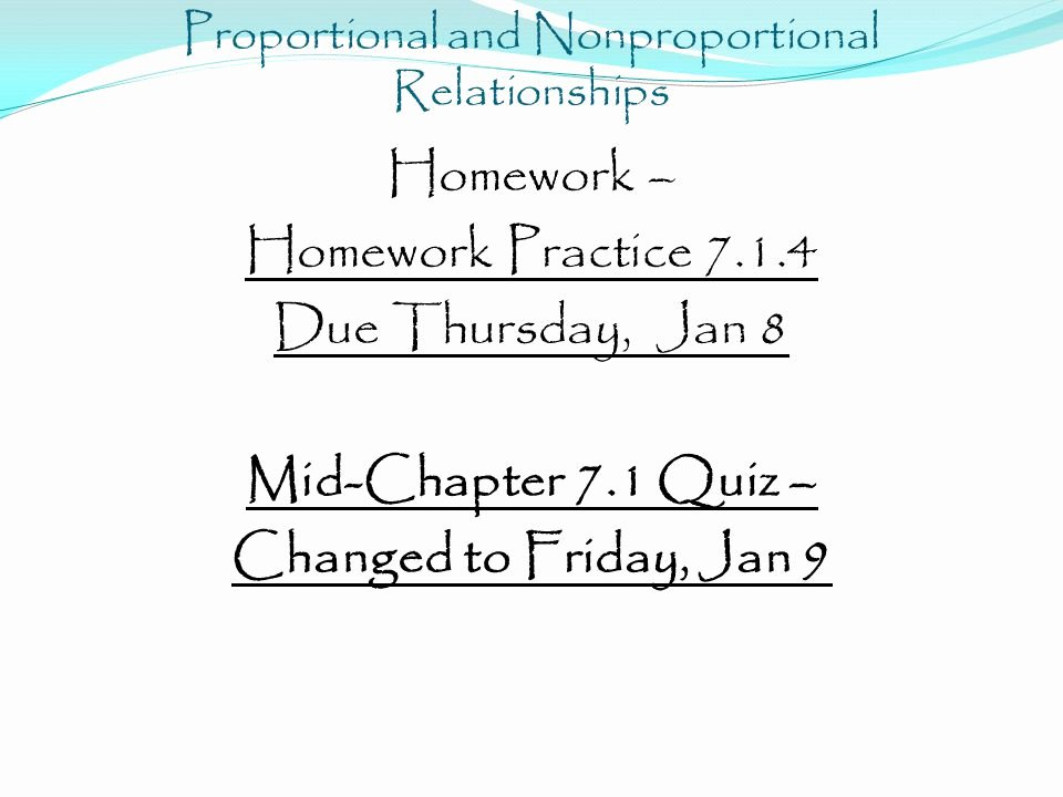 Proportional and Nonproportional Relationships Worksheet Luxury 5 Minute Check Plete In Your Notes Mi H = Ft Min 2