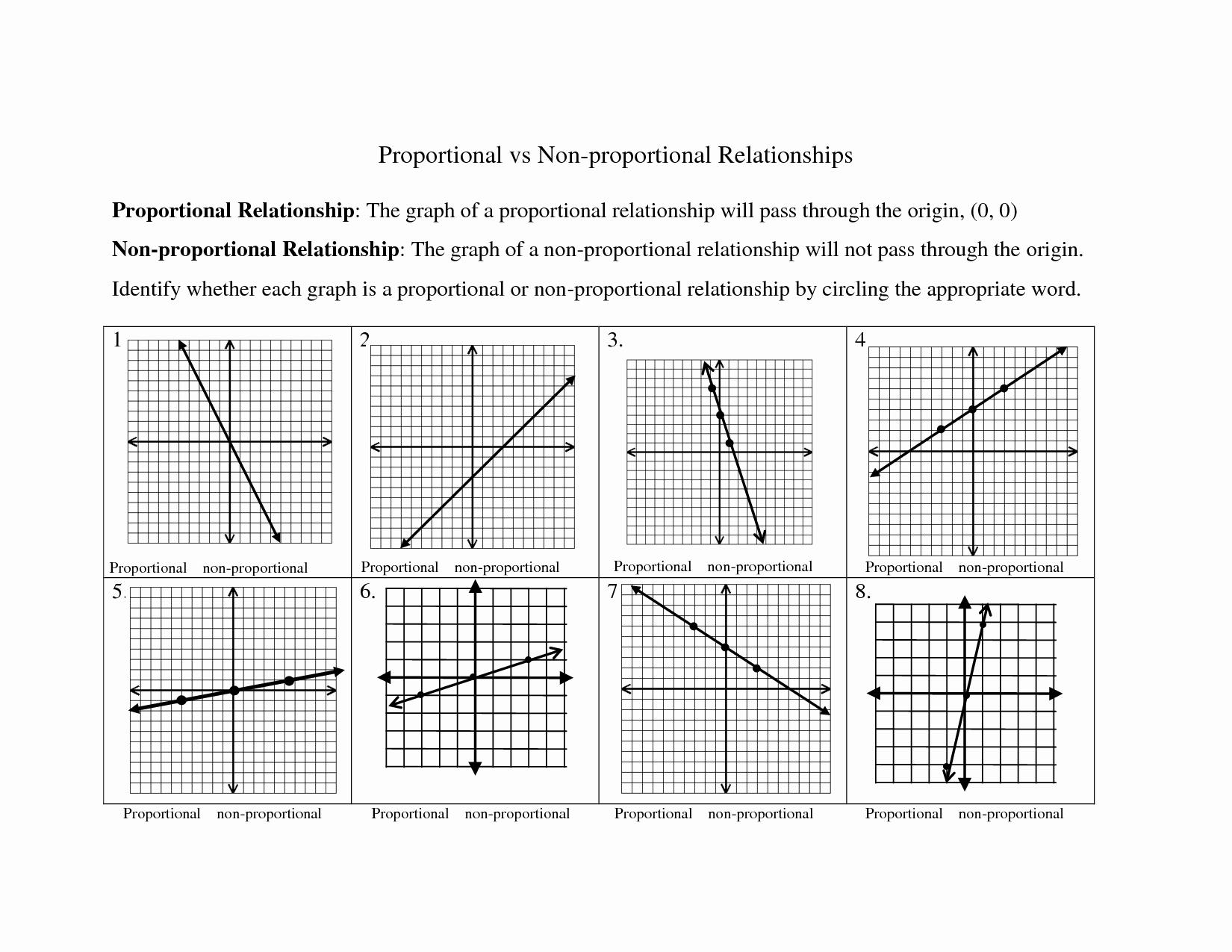 Proportional and Nonproportional Relationships Worksheet Unique 15 Best Of Slope Practice Worksheet 8th Grade