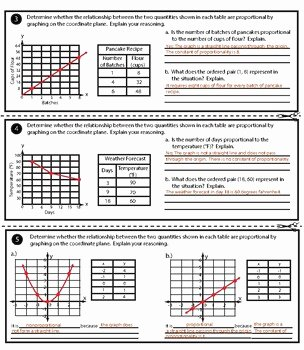 Proportional and Nonproportional Relationships Worksheet Unique Graphing Proportional and Nonproportional Relationships by