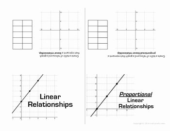 Proportional and Nonproportional Relationships Worksheet Unique Linear Proportional and Non Proportional Relationships