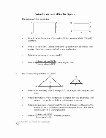 Proportions and Similar Figures Worksheet Awesome Worksheet On Similar Figures with Multiple Choice
