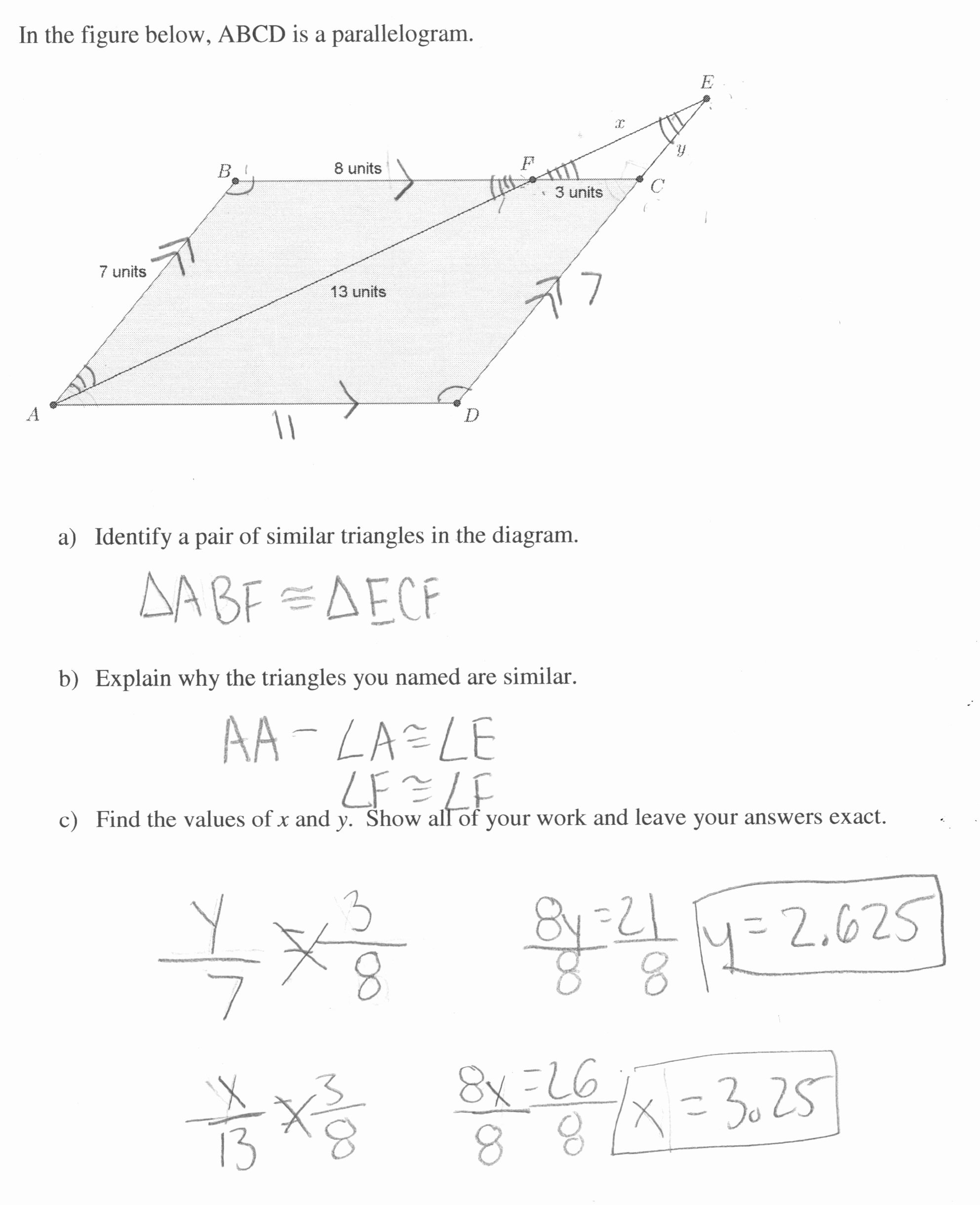 Proportions and Similar Figures Worksheet Awesome Worksheet Similar Figures and Proportions Worksheet