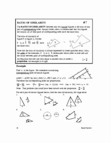 Proportions and Similar Figures Worksheet Beautiful Ratio Of Similarity 10th Grade Worksheet