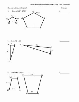 Proportions and Similar Figures Worksheet Best Of Similar Figures & Proportions Worksheet by Math is Easy as
