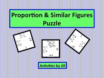 Proportions and Similar Figures Worksheet Fresh Proportion and Similar Figure Puzzle by Activities by Jill