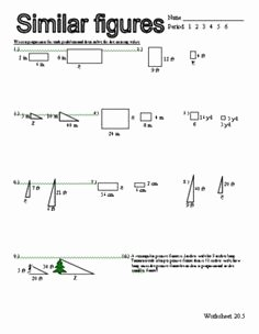 Proportions and Similar Figures Worksheet Lovely Proportion and Similar Figure Puzzle