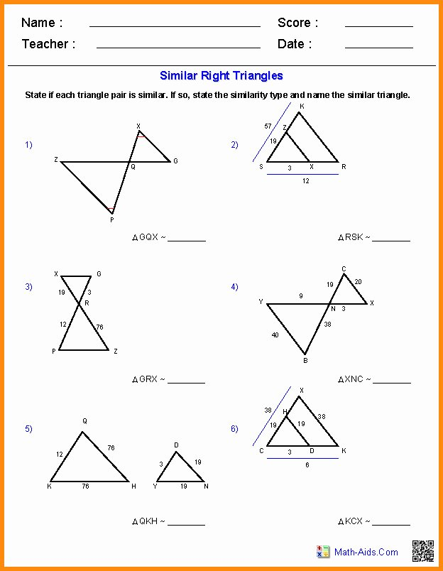 Proportions and Similar Figures Worksheet Luxury Similar Triangles Worksheet