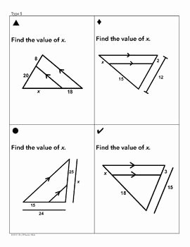 Proportions and Similar Figures Worksheet Luxury Triangle Similarity Sum Em Activity