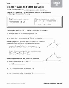 Proportions and Similar Figures Worksheet New Reteach Similar Figures and Scale Drawings 4th 6th