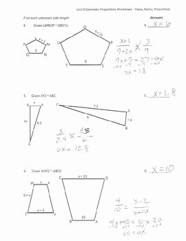 Proportions and Similar Figures Worksheet New Similar Figures & Proportions Worksheet by Math is Easy as