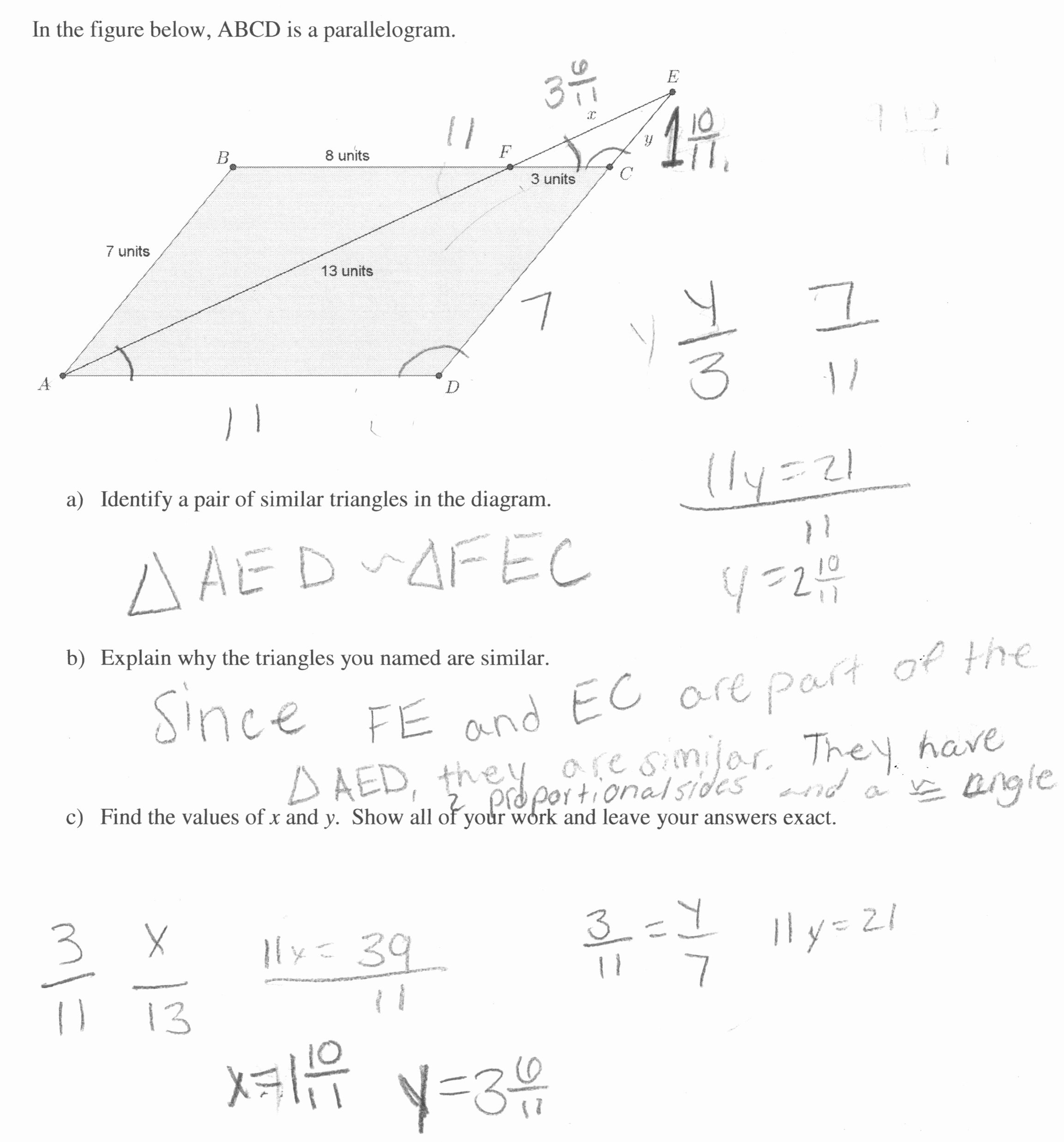 Proportions and Similar Figures Worksheet New Worksheets Similar Figures and Proportions Worksheet