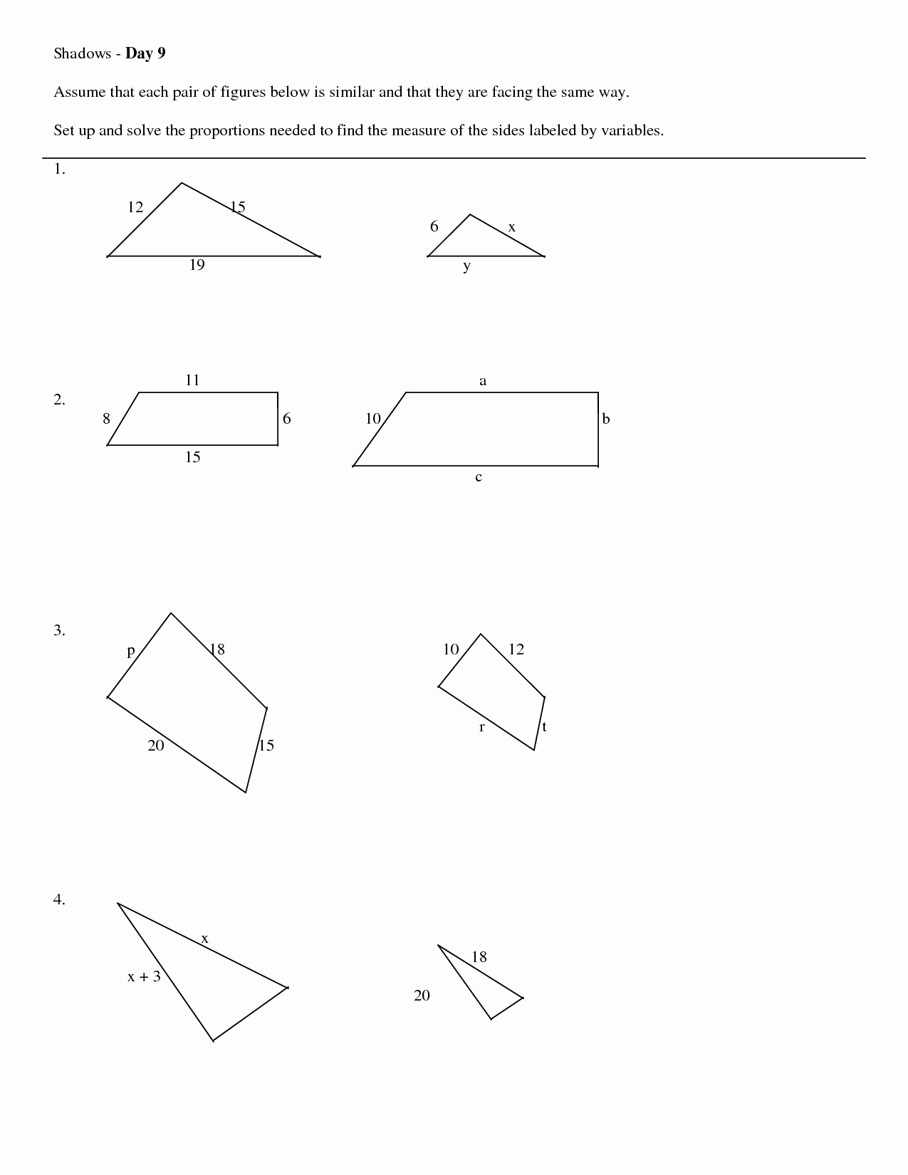 Proportions and Similar Figures Worksheet Unique 10 Best Of Similar Figures Worksheets 7th Grade