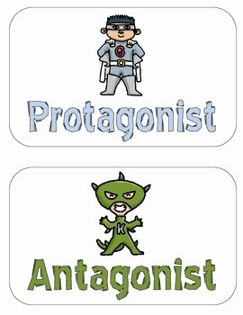 Protagonist and Antagonist Worksheet Fresh Protagonist Vs Antagonist Pack by Katie Clodfelder