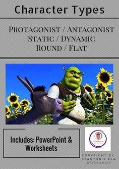 Protagonist and Antagonist Worksheet Inspirational Types Of Characters Protagonist Antagonist Flat Round
