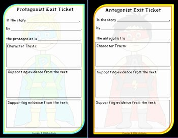 Protagonist and Antagonist Worksheet Luxury Protagonist Vs Antagonist by Teaching Ninjas