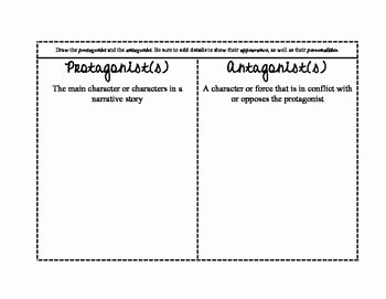 Protagonist and Antagonist Worksheet New Characters Protagonist and Antagonist Foldable by the