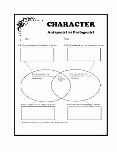 Protagonist and Antagonist Worksheet Unique Antagonist Vs Protagonist Worksheets