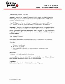 Protein Synthesis Practice Worksheet Fresh Protein Synthesis Worksheet Worksheet for 9th 12th Grade