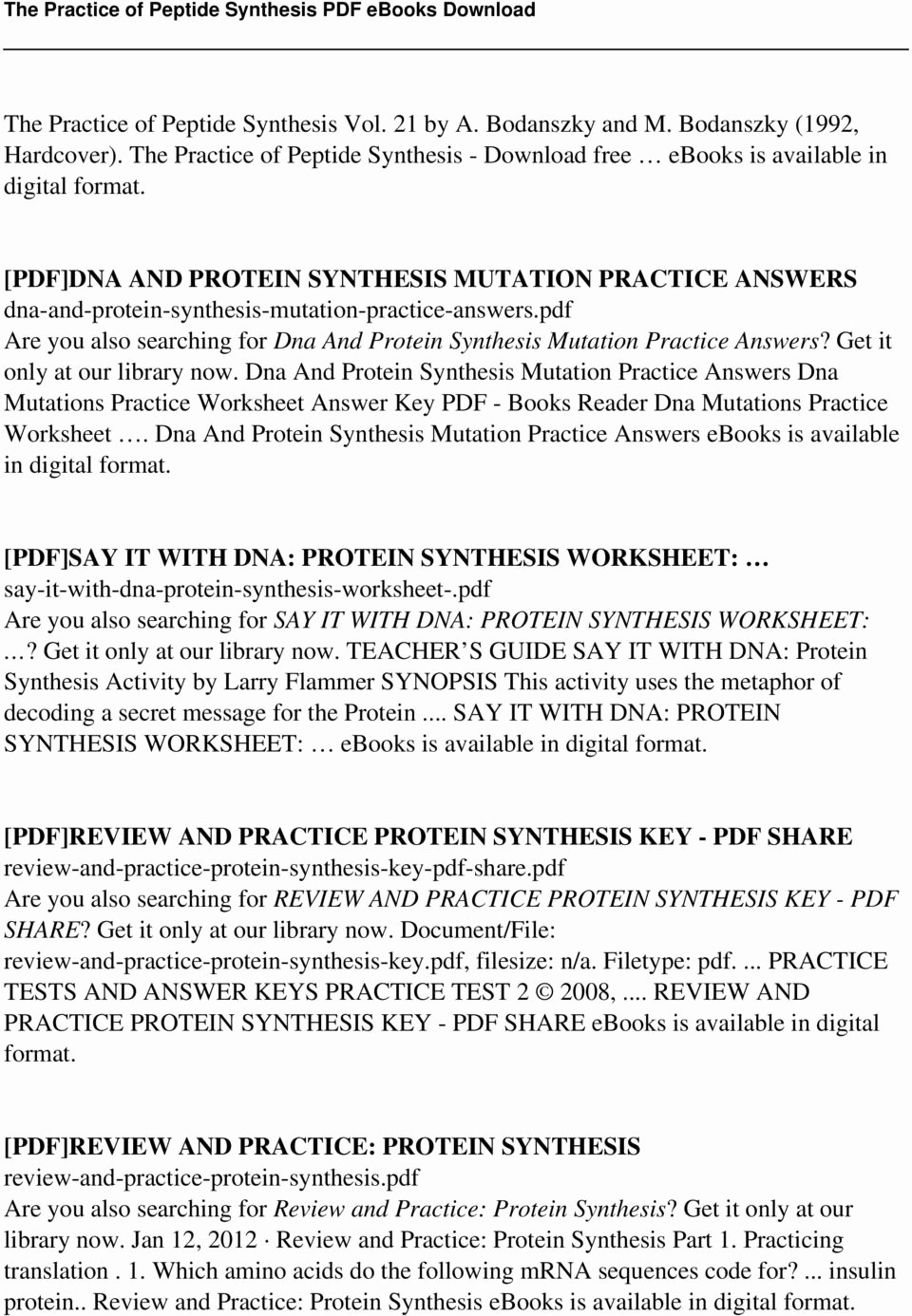 Protein Synthesis Worksheet Answer Key Beautiful Level 2 Concept Synthesis Worksheet Answers