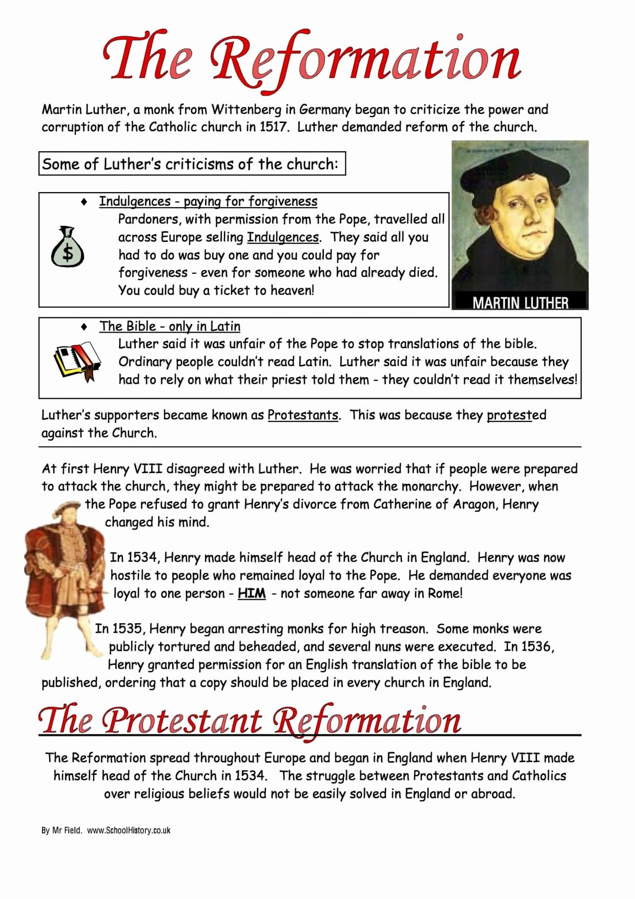 Protestant Reformation Worksheet Answers Luxury the Protestant Reformation Worksheet
