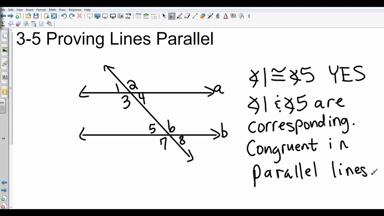 Proving Lines Parallel Worksheet Awesome Geometry 3 5 Proving Lines Parallel