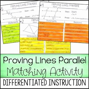 Proving Lines Parallel Worksheet Best Of Proving Lines Parallel Proof Activity