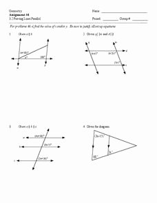 Proving Lines Parallel Worksheet Elegant Proving Lines Parallel Worksheet for 9th 12th Grade