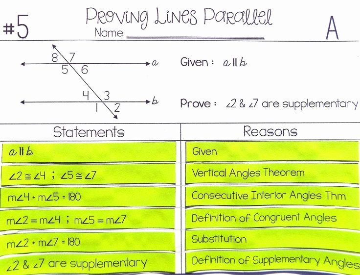 Proving Lines Parallel Worksheet Inspirational Proving Lines Parallel Proof Activity Proofs